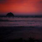 ocean sunset by Jeannie Peters