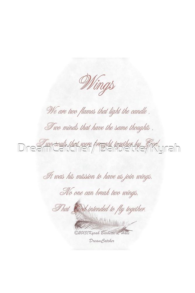Wings by DreamCatcher/ Kyrah Barbette L Hale