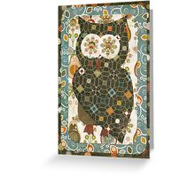 Busy Owl Greeting Card