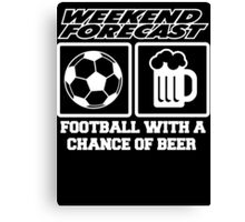 beer with football Canvas Print