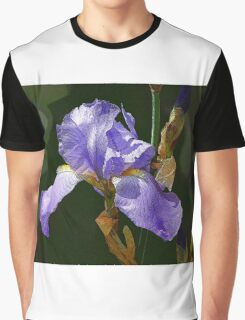 Abstract Blue Iris188 Graphic T-Shirt