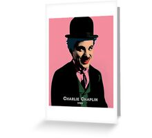 Charlie Chaplin with Pop Art Style Greeting Card
