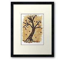 The Autumn Forest Will Die Happy To Re-birth Created with Tea Framed Print