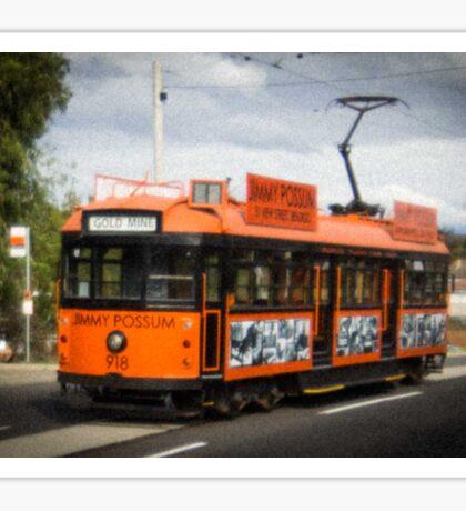Tram #918 - retro Sticker