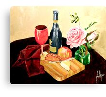 I Like Apple with My Cheese Canvas Print