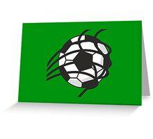 Goal - Soccer Ball in the Net Greeting Card
