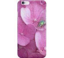 Pink Hydrangea Flowers iPhone Case/Skin