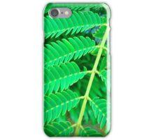 Green Silk Tree Leaves iPhone Case/Skin