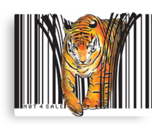 ENDANGERED TIGER BARCODE illustration print Canvas Print