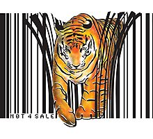 ENDANGERED TIGER BARCODE illustration print Photographic Print