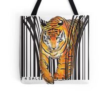 ENDANGERED TIGER BARCODE illustration print Tote Bag