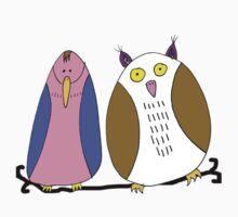 Pingu &Owl by Krokokaro