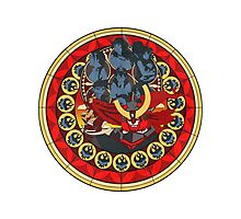 Gurren Lagann Stained Glass Photographic Print