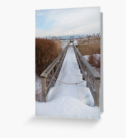 Distant Lighthouse - Perkins Cove Greeting Card