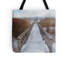 Distant Lighthouse - Perkins Cove Tote Bag