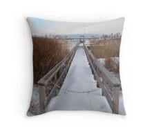 Distant Lighthouse - Perkins Cove Throw Pillow