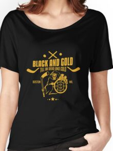Black and gold - Boston Bruins Women's Relaxed Fit T-Shirt
