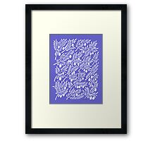 Olive Branches – Periwinkle Framed Print