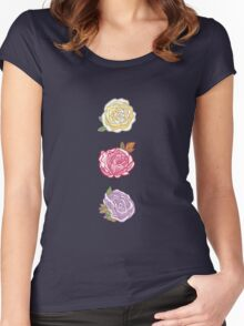 Decorative Roses Women's Fitted Scoop T-Shirt