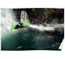 Whitewater Kayaker Poster
