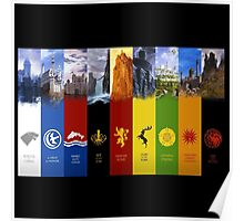 The Houses Game of Thrones Poster