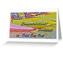 Banner Odd One Out Greeting Card