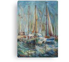 Castellon, the port Canvas Print