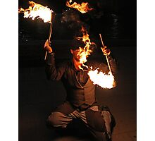 Flame Dancer Photographic Print