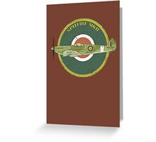 RAF MKII Spitfire Vintage Look Fighter Aircraft Greeting Card