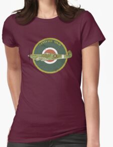 RAF MKII Spitfire Vintage Look Fighter Aircraft Womens Fitted T-Shirt