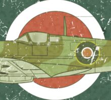 RAF MKII Spitfire Vintage Look Fighter Aircraft Sticker