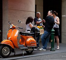 The orange scooter... by John Holding by Shot in the Heart of Melbourne, 2013