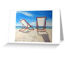 Beach Chair Breeze Greeting Card