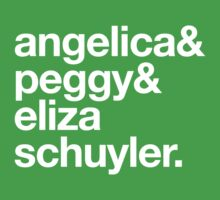 Angelica, peggy & eliza schuyler Kids Tee