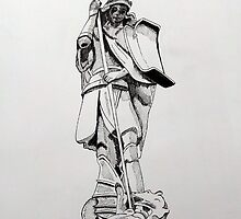 241 - JOHNSTOWN WAR MEMORIAL - DAVE EDWARDS - INK - 2013 by BLYTHART