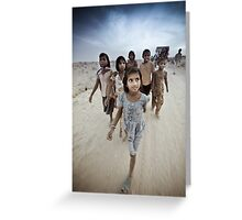 Children of the Thar Dessert, Rajasthan India Greeting Card