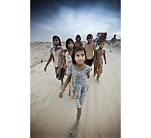 Children of the Thar Dessert, Rajasthan India Photographic Print