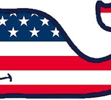 American Flag Whale by daniellecarley