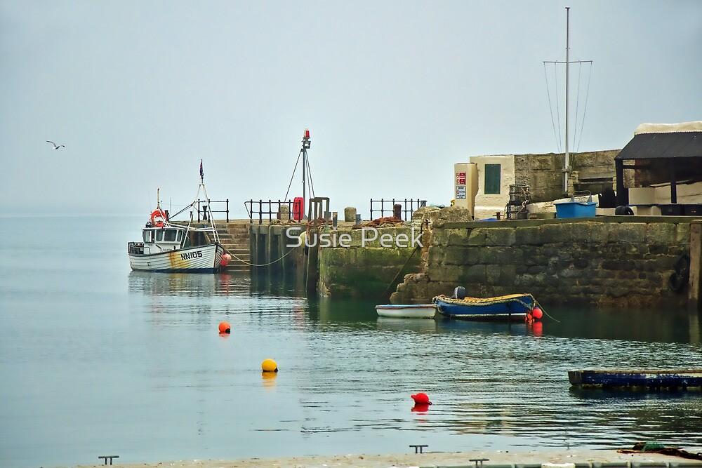 Foggy Day At The Harbour ~ Lyme Regis by Susie Peek