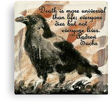 Death Crow - Quotes Canvas Print