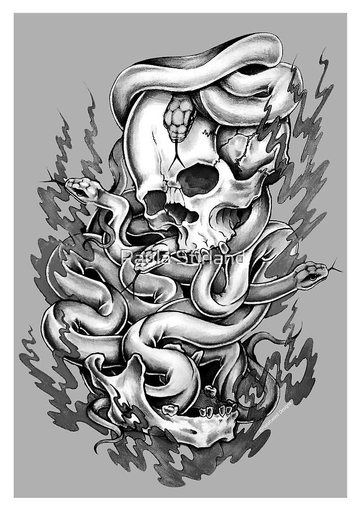 Skull & Snakes by Paula Stirland
