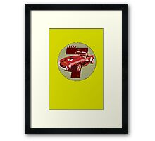 Vintage Feel Lucky Seven Cobra Classic Sports Car Framed Print