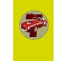 Vintage Feel Lucky Seven Cobra Classic Sports Car Photographic Print