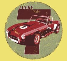 Vintage Feel Lucky Seven Cobra Classic Sports Car Baby Tee