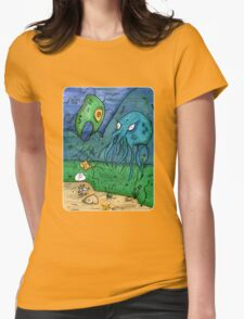 Squid Time Womens Fitted T-Shirt