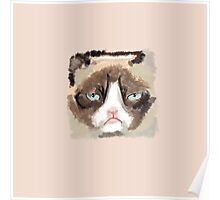 Painted Grumpy Cat Poster