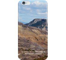 hiking path and mountains at Johnston's Ridge iPhone Case/Skin