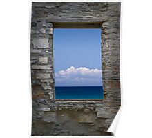 Window View at Fayette State Park in Michigan Poster