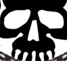 Skull with Clarinet Crossbones Sticker