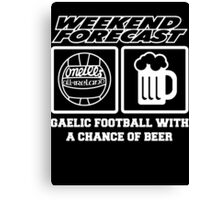 beer with gaelic football Canvas Print